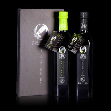 Coffret 2 bouteilles 750 ml d'Huile d'olive Extra vierge - PICUAL+ARBEQUINA