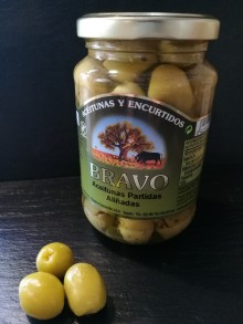 Olives manzanilla brisées