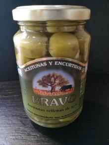Olives manzanilla farcies à l'ail
