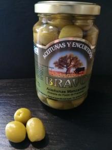Olives manzanilla farcies aux poivrons